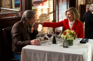 """Outside the Bubble""--Diane (Christine Baranski, right) takes refuge in her relationship with Kurt (Gary Cole, left) while she is being pushed out of the firm after making disparaging comments about Will to a reporter, on THE GOOD WIFE at a special time, Sunday, October 20 (9:30-10:30 PM, ET/PT) on the CBS Television Network. Photo: David M. Russell/CBS ©2013 CBS Broadcasting Inc. All Rights Reserved"